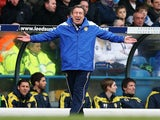 Neil Warnock during Leeds' match against Huddersfield in March 2013.