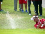 Thongchai Jaidee of Team Asia in actions in the foursome matches against Team Europe during day two of the EurAsia Cup at Glenmarie G&CC on March 28, 2014