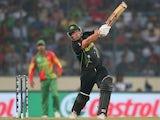 Aaron Finch of Australia bats during the ICC World Twenty20 Bangladesh 2014 match between Bangladesh and Australia at Sher-e-Bangla Mirpur Stadium on April 1, 2014