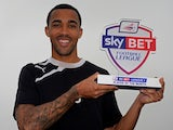 Coventry's Callum Wilson with his League One Player of the Month award on April 3, 2014