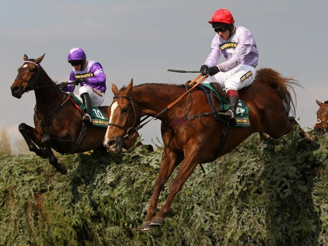 Chance du Roy racing at the Grand National on April 13, 2012.