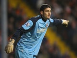 Craig Gordon of Sunderland during the Barclays Premier League match between Blackpool and Sunderland at Bloomfield Road on January 22, 2011
