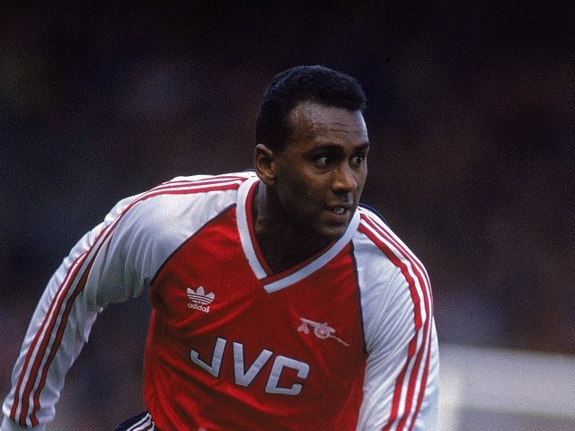 David Rocastle in action for Arsenal on April 15, 1989.