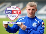 Rochdale's Jamie Allen with his League Two Player of the Month award on April 3, 2014