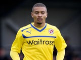 Michael Hector of Reading in action during a pre season friendly match between AFC Wimbledon and Reading at the Kingsmeadow Stadium on July 14, 2012