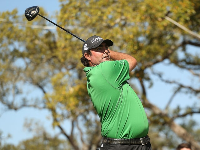 Steven Bowditch tees off on the 17th during the Final Round of the Valero Texas Open at TPC San Antonio AT&T Oaks Course on March 30, 2014