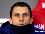 Gustavo Poyet the Sunderland manager looks on during the Barclays Premier League match between Sunderland and West Ham United at the Stadium of Light on March 31, 2014