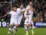 Adel Taarabt of AC Milan celebrates scoring the first goal during the Serie A match between Genoa CFC v AC Milan at Stadio Luigi Ferraris on April 7, 2014