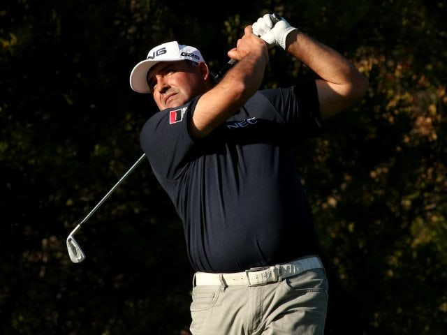Angel Cabrera in action on February 13, 2014.
