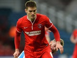 Charlton's Dorian Dervite in action against Huddersfield during their FA Cup match on January 25, 2014