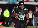 Dwight Lowery #25 of the Jacksonville Jaguars in action against Tennessee Titans on November 25, 2012
