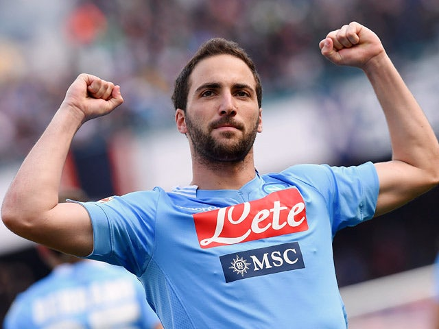 Result: Higuain hat-trick downs Lazio