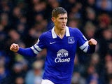 Everton's John Stones in action against Aston Villa during their Premier League match on February 1, 2014