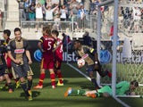 Midfielder Maurice Edu #21 of the Philadelphia Union picks up the ball after he scores the tying goal against Real Salt Lake on April 12, 2014