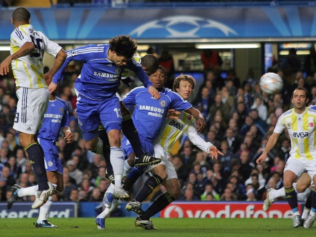Michael Ballack scores for Chelsea against Fenerbahce on April 08, 2008.