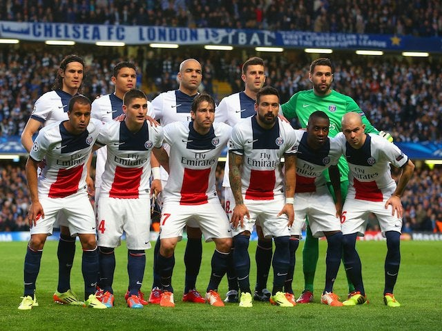 PSG team to face Chelsea in the Champions League quarter-finals on April 8, 2014