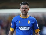 Mansfield's Ryan Tafazolli in action against Northampton during the League Two match on March 15, 2014