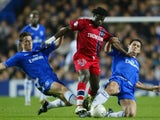 Scott Parker and Frank Lampard attempt to win back possession for Chelsea against Paris Saint-Germain on November 24, 2004.
