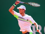 Andreas Seppi in action against Mikhail Youzhny during the Monte Carlo Masters second round on April 16, 2014