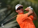 Lee Westwood in action on the fourth hole during day three of the Maybank Malaysian Open on April 19, 2014