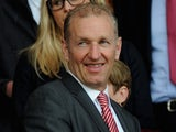 Ralph Krueger the Southampton Chairman and Katharina Liebherr the Southampton owner look on during a Barclays Premier League match on April 12, 2014