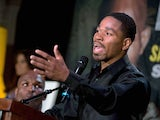 US boxer Shawn Porter speaks during a press conference in Washington on April 17, 2014