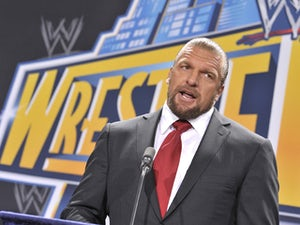 Triple H attends a press conference to announce a major international event at MetLife Stadium on February 16, 2012