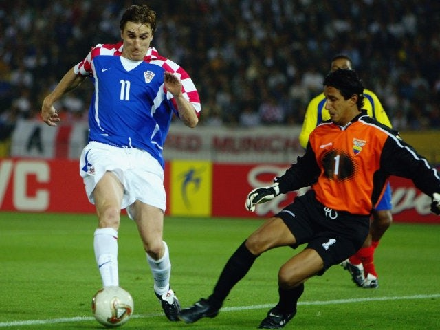 Alen Boksic in action for Croatia against Ecuador on June 13, 2002.