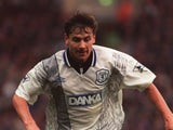 Andrei Kanchelskis in action for Everton against Aston Villa on October 28, 1995.