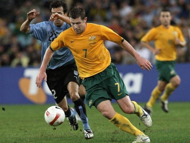 Brett Emerton in action for Australia on June 02, 2007.