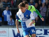 Bristol Rovers' Fabian Broghammer in action against Northampton during the League Two match on October 6, 2012