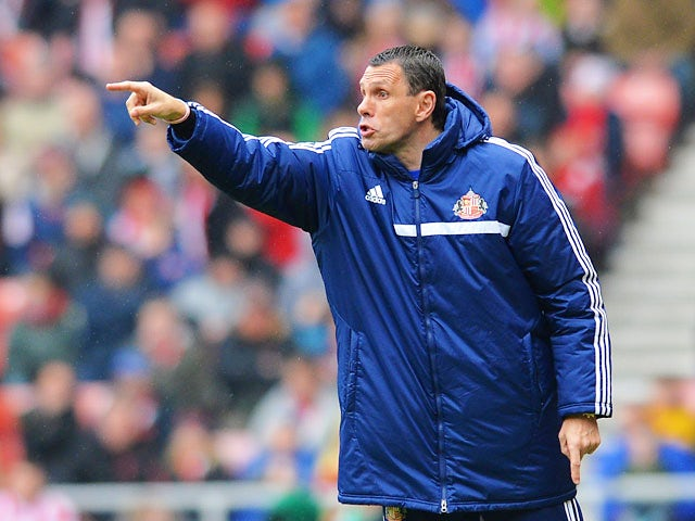 Sunderland manager Gus Poyet on the touchline during the Premier League match against Cardiff on April 27, 2014
