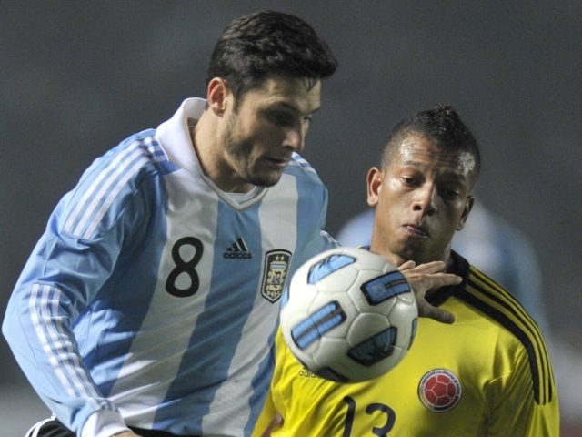 Javier Zanetti in action for Argentina on Jul 06, 2011.