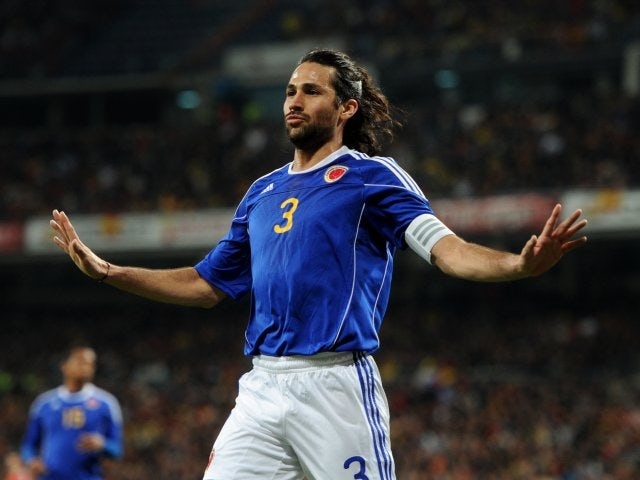 Mario Yepes in action for Colombia on February 09, 2011.
