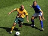 Mark Bresciano in action for Australia against Italy on June 26, 2006.