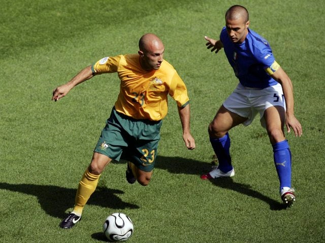 Mark Bresciano in action for Australia against Italy on June 26, 2006.