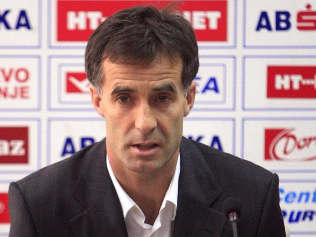Meho Kodro attends a press conference after being named the new head coach of Bosnia on January 07, 2008.
