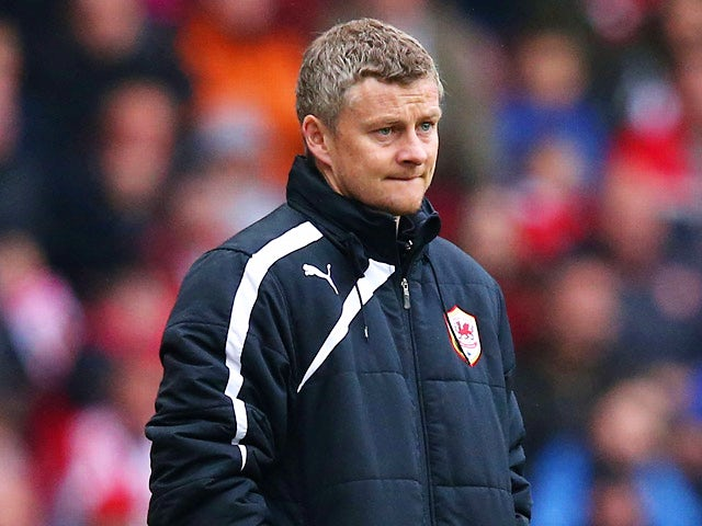 Cardiff manager Ole Gunnar Solskjaer on the touchline during the Premier League match against Sunderland on April 27, 2014