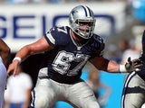 Phil Costa #67 of the Dallas Cowboys against Carolina Panthers during their game on October 21, 2012
