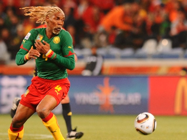 Rigobert Song in action at the World Cup for Cameroon on June 24, 2010.