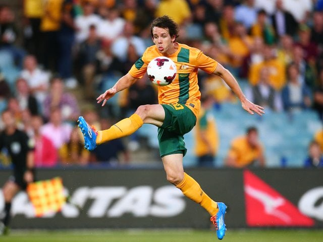 Robbie Kruse in action for Australia on November 19, 2013.
