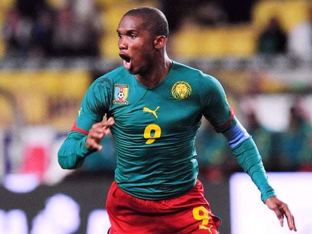 Chelsea striker Samuel Eto'o in action for Cameroon on March 03, 2010.