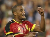 Manchester City defender Vincent Kompany in action for Belgium on August 14, 2013.
