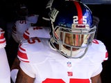 New York Giants' Will Hill walks out of the tunnel before the game against the San Diego Chargers on December 8, 2013