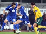Zvjezdan Misimovic in action for Bosnia on October 15, 2013.