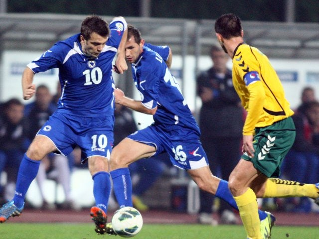 Zvjezdan Misimovic in action for Bosnia on October 15, 2013.