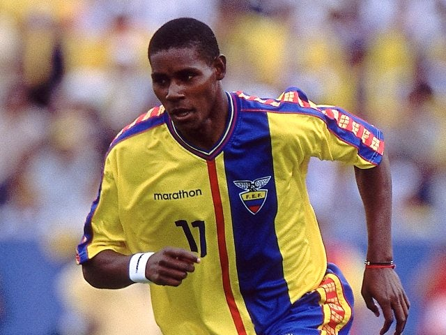 Former Southampton striker Augustin Delgado in action for Ecuador on March 28, 2001.