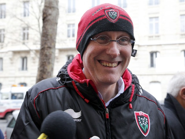 RC Toulon rugby union head coach Bernard Laporte arrives prior to his hearing in front of the French Rugby Union federation disciplinary commission on February 5, 2014