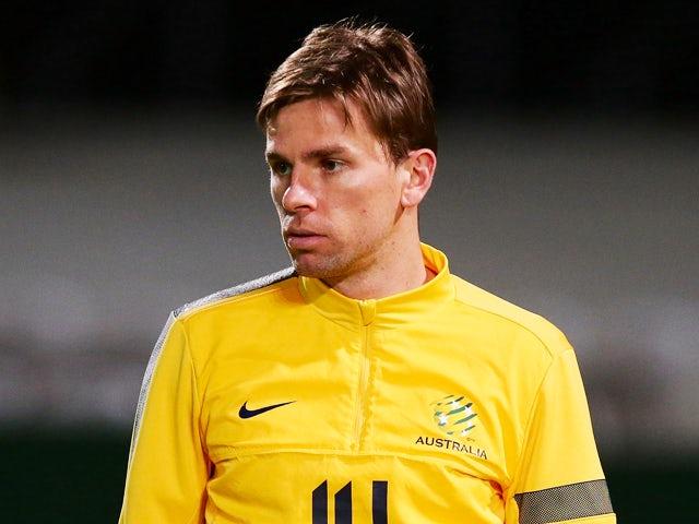 Brett Holman looks on during an Australian Socceroos training session at WIN Jubilee Stadium on June 13, 2013