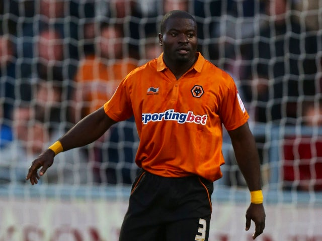 George Elokobi of Wolverhampton Wanderers in action during the Capital One Cup 2nd Round match between Northampton Town and Wolverhampton Wanderers at Sixfields Stadium on August 30, 2012